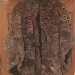 Real Fur one size Cape 2 fur style Honk Kong store